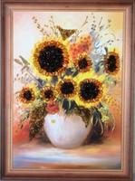 """Картина с янтарём """"Ваза с цветами"""""""