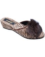Тапочки домашние, принт леопард